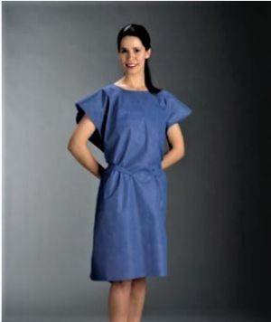 FabriWear™ Gown - Blue Exam Gown non-woven