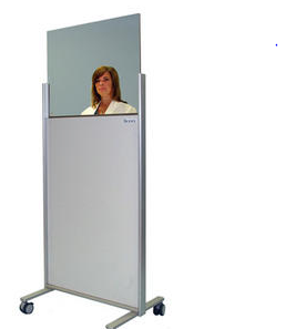 Clear-Lead Mobile X-Ray Barrier with Standard Window