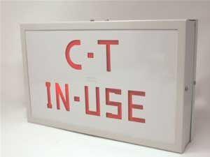 CT IN USE ILLUMINATED SIGN