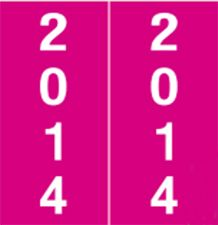 AFV Year 2014 Labels - Red