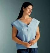 """Patient Exam Cape - Value Tissue - Blue - 30"""" x 21"""" 100/CS"""