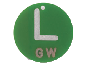 polycarbonate left round marker no initials xray markers