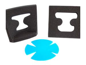 REPLACEMENT POLYFOAM PADS FOR DUNCAN AND OSBORNE HEAD SUPPORT SYSTEMS