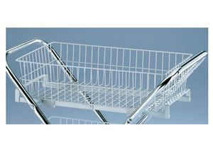 Folding Utility Cart with 6 inch Wire Basket