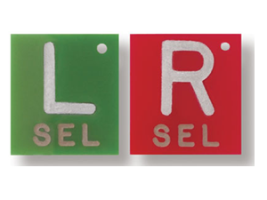 Polycarbonate Square Left and Right Marker Set - 1-2 INITIALS