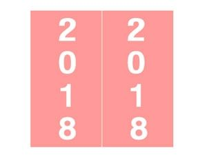 AMES 2018 PINK YEAR LABEL UNLAMINATED IFYP