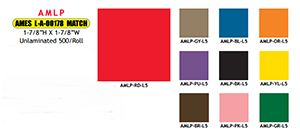 Ames Solid Color Labels - AMLP Series