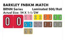 Barkley Numeric Labels - BRNM Series
