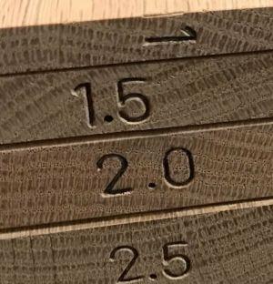 .5 cm Increments