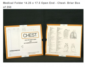 263337-250 - MFR: CI6130 Open End Category Insert Jackets - Chest with Briar Border Ink Color - System A