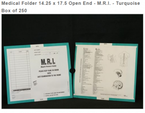 403466 - CI6165 Open End Category Insert Jackets - M.R.I. with Turquoise Border Ink Color - System A