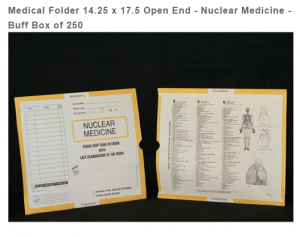 263346-250 - MFR: CI6170 Open End Category Insert Jackets - Nuclear Medicine with Buff Border Ink Color - System A