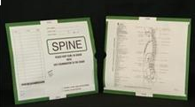 263348-250 - CI6180 Open End Category Insert Jackets - Spine with Dark Green Border Ink Color - System A