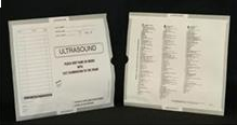 263349-250 - CI6185 Open End Category Insert Jackets - Ultrasound with Gray Border Ink Color - System A