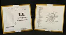 192201-250 - CI6210 Open End Category Insert Jackets - B.E. with Gold Border Ink Color - System B