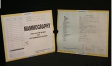 403474 - CI6445 - Open End Category Insert Jackets - Mammography with Manila Border Ink Color - System D