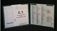 254077-250 - MFR: CI7225 Open Top Category Insert Jackets - C.T. Scan with Kelly Green Border Ink Color - System B