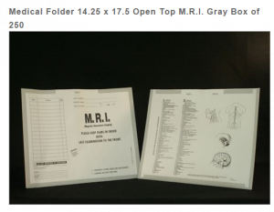 403481 - MFR: CI7450 - Open Top Category Insert Jackets - M.R.I. with Gray Border Ink Color - System D