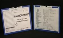 401170-250 - CI8205 - Open Top Mini Category Insert Jackets - Mammography with Dark Blue Border Ink Color