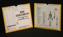 402940-250 - CI8220 - Open Top Mini Category Insert Jackets - Bone Densitometry with Yellow and Black Border Ink Color