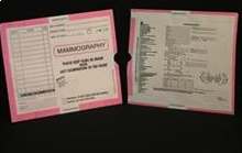 267899-250 - CI9110 - Open End Mini Category Insert Jackets - Mammography with Pink Border Ink Color