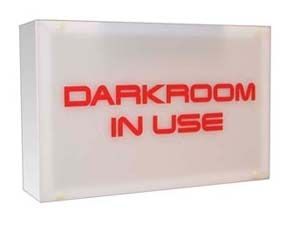 DARKROOM IN USE - WALL MOUNTED ILLUMINATED SIGN