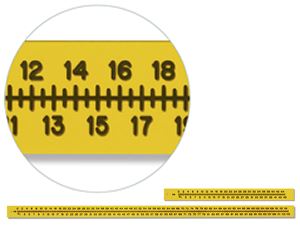 "Flexible Scales Extremity Ruler 115 cm - 1/16"" Thick"