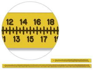 Flexible Scale Extremity Ruler 1/8 in Thick