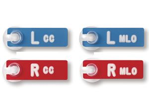 Mark-Well Markers set of 4 cc and mlo views - xray markers