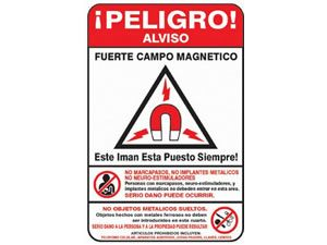 MRI Sign Restricted Access - Spanish