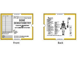 402958-250 - CI9220 - Open End Mini Category inserts - Bone Densitometry with Yellow and Black Border Ink Color