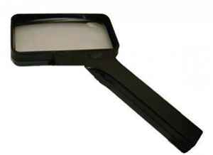 SELSI 8 Diopter 2X Rectangular Hand Magnifier