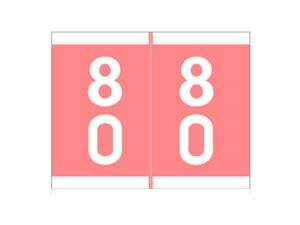SAV-TYME PINK 80-89SAV-TYME, Numeric Double Digit Labels,Pink Numbers, 80 - 89, 413175, CL5625, 123586