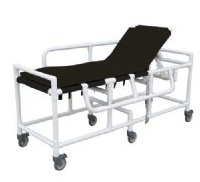 MRI Non-Magnetic PVC Gurney with 3 Position Elevating Headrest