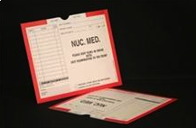 401171-250 - CI8210 Open Top Mini Category Insert Jackets - Nuclear Medicine with Red Border Ink Color