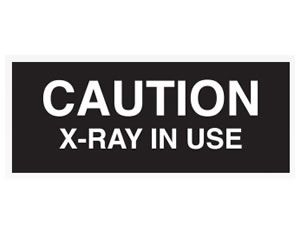 Caution X-Ray In Use Sign - Black