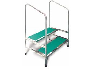 MRI DOUBLE STEP STOOL WITH HANDRAIL