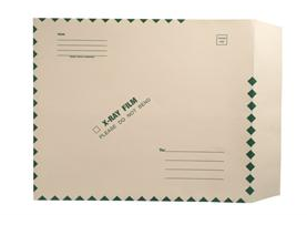"252090 - XM1525 - Open End Standard X-Ray Film Mailer - 15"" x 18"" - Ungummed - Green Diamond Border with Standard Imprint"