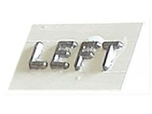 FLAT SURFACE MOUNTED WORDS - XRAY MARKERS