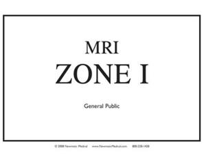 MRI ZONE 1 SIGN