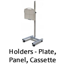 Holders for DR and CR plates and detectors