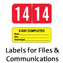 labels for files and communications